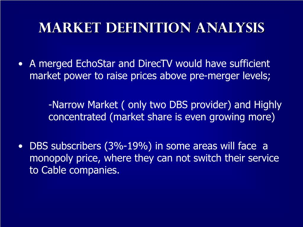 Market Definition Analysis
