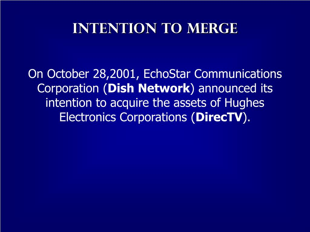Intention to Merge
