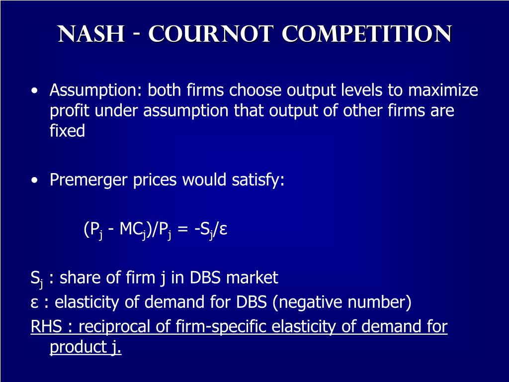 Nash - Cournot Competition