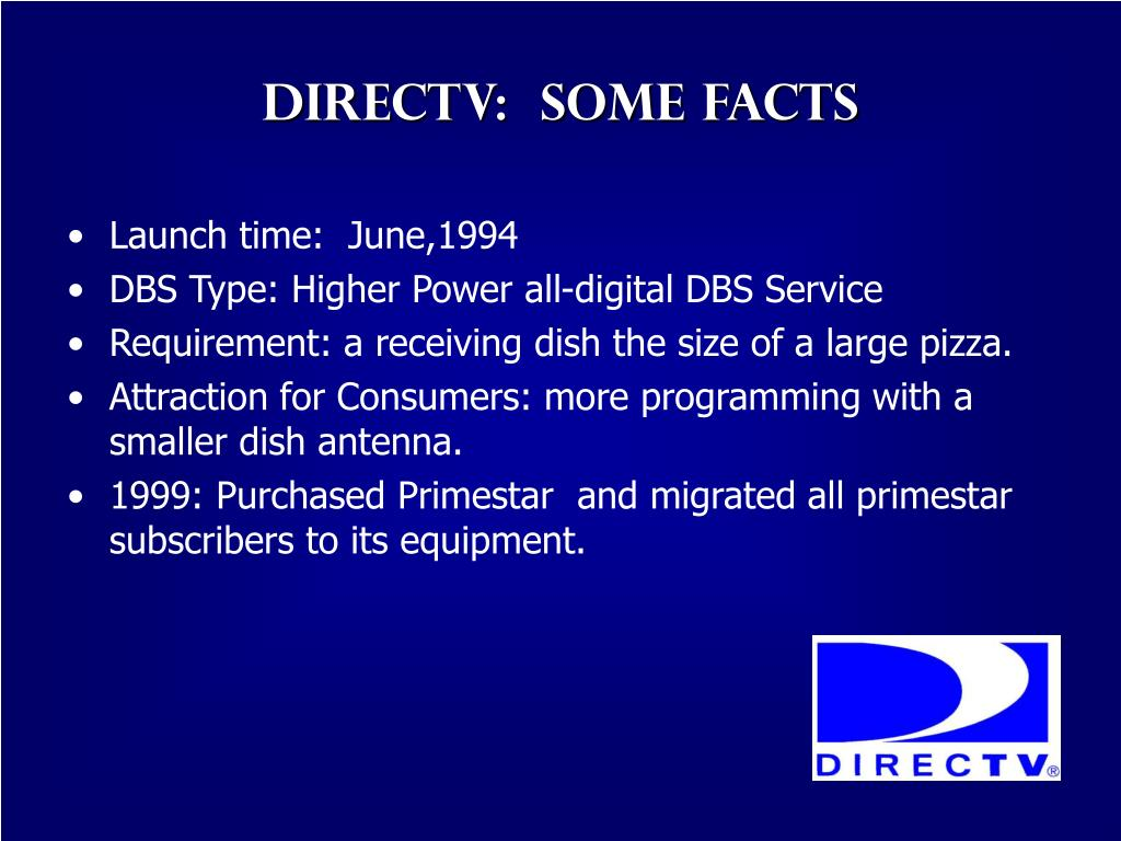 Directv:  Some facts