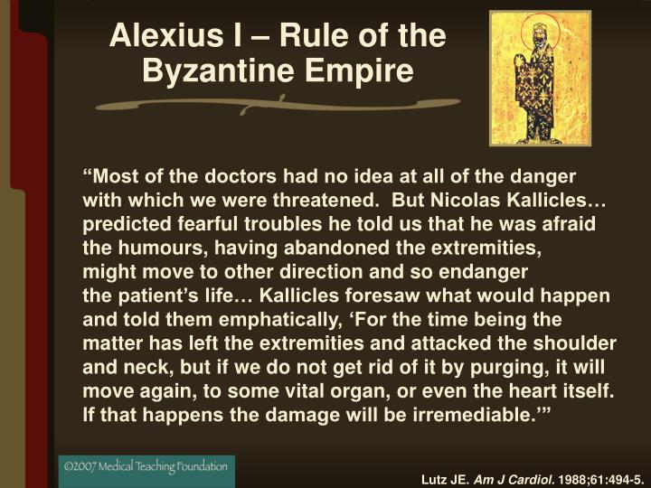 Alexius I – Rule of the