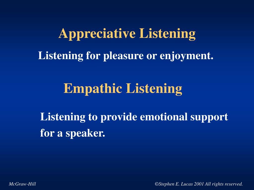 Appreciative Listening