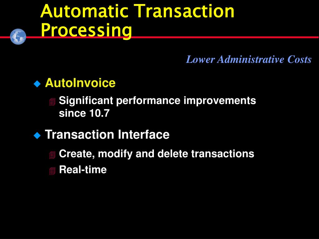 Automatic Transaction Processing