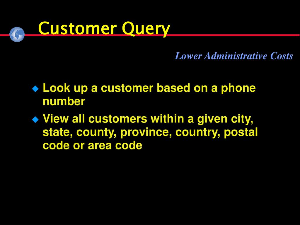 Customer Query