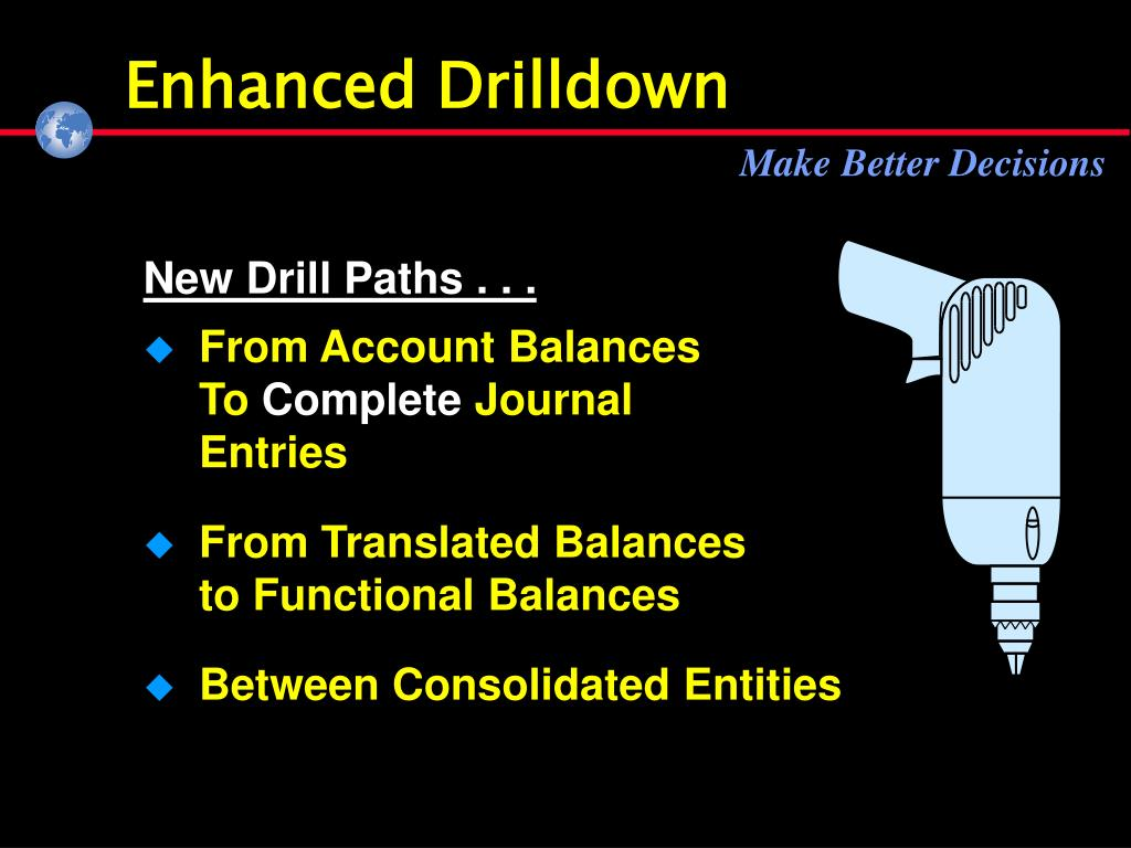 Enhanced Drilldown