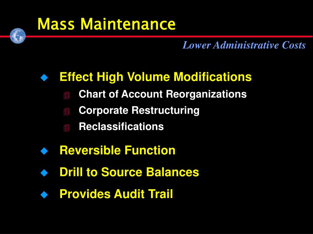 Mass Maintenance