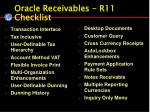 oracle receivables r11 checklist