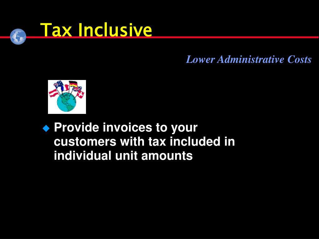 Tax Inclusive