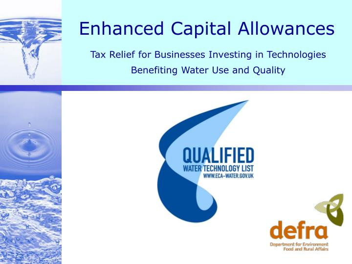 Enhanced capital allowances l.jpg