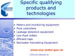specific qualifying products and technologies