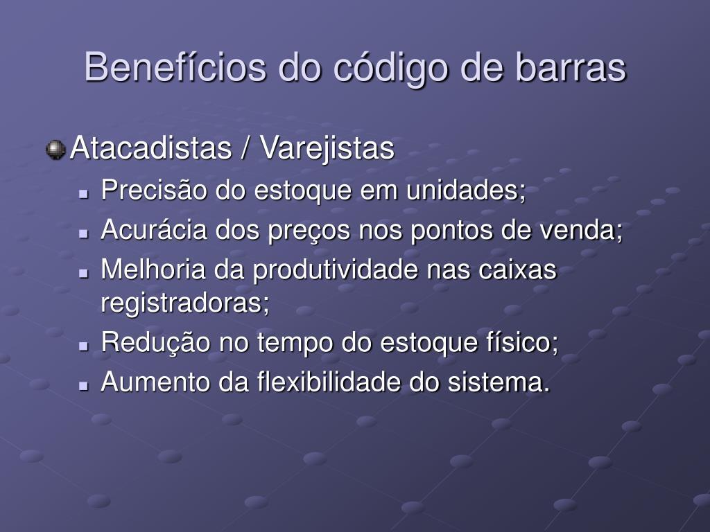 Benefícios do código de barras
