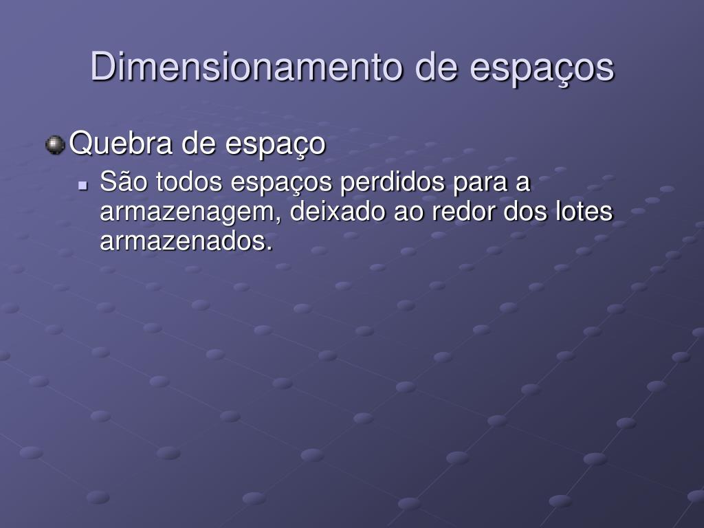Dimensionamento de espaços