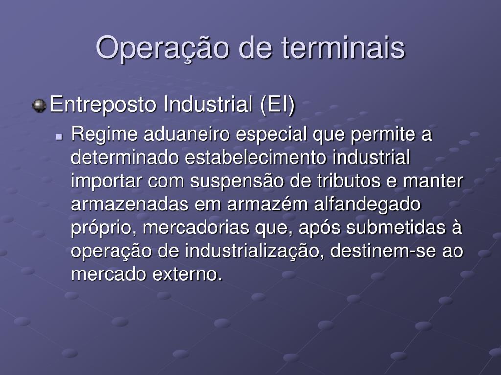 Operação de terminais