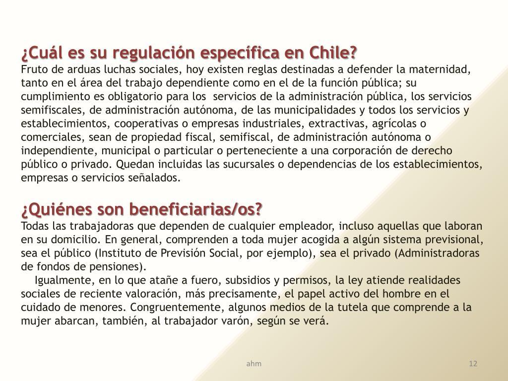 ¿Cuál es su regulación específica en Chile?
