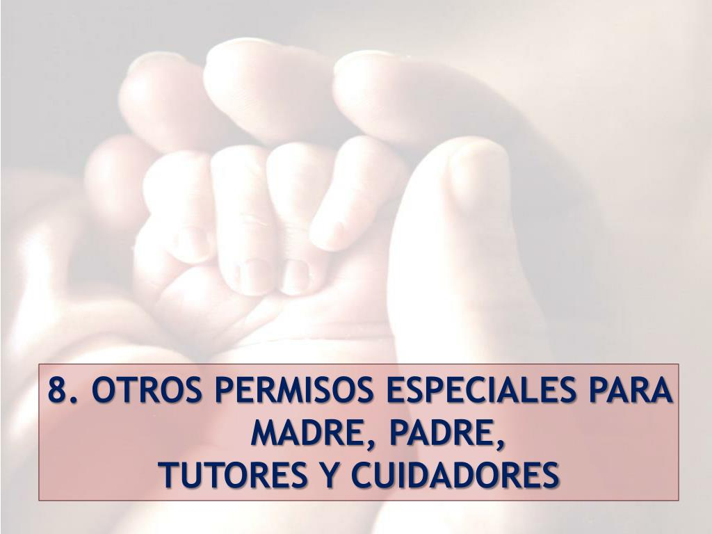 8. OTROS PERMISOS ESPECIALES PARA