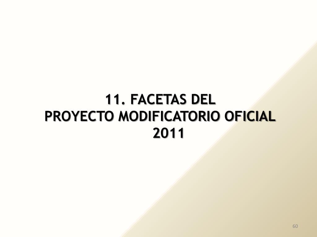 11. FACETAS DEL