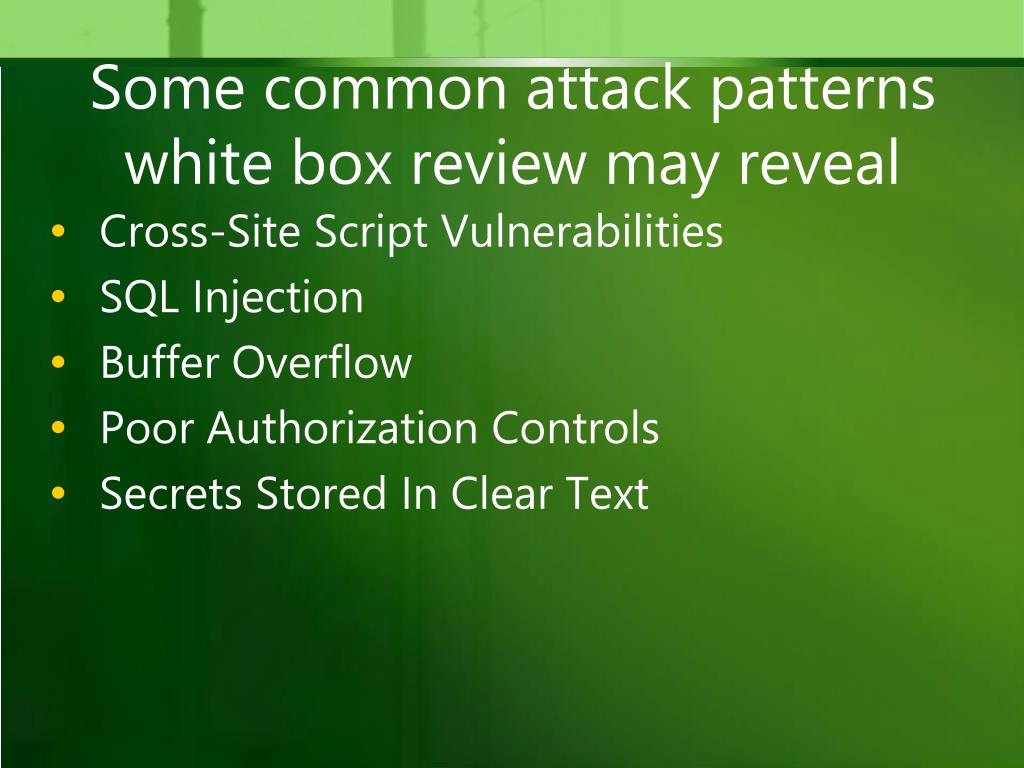 sql injection and buffer overflow attack detection Runtime protection strategies detection and recovery input that is meant to be sent to a sql database will require validation to detect and prevent sql injection attacks ssp provides buffer overflow detection and variable reordering to avoid the corruption of pointers.