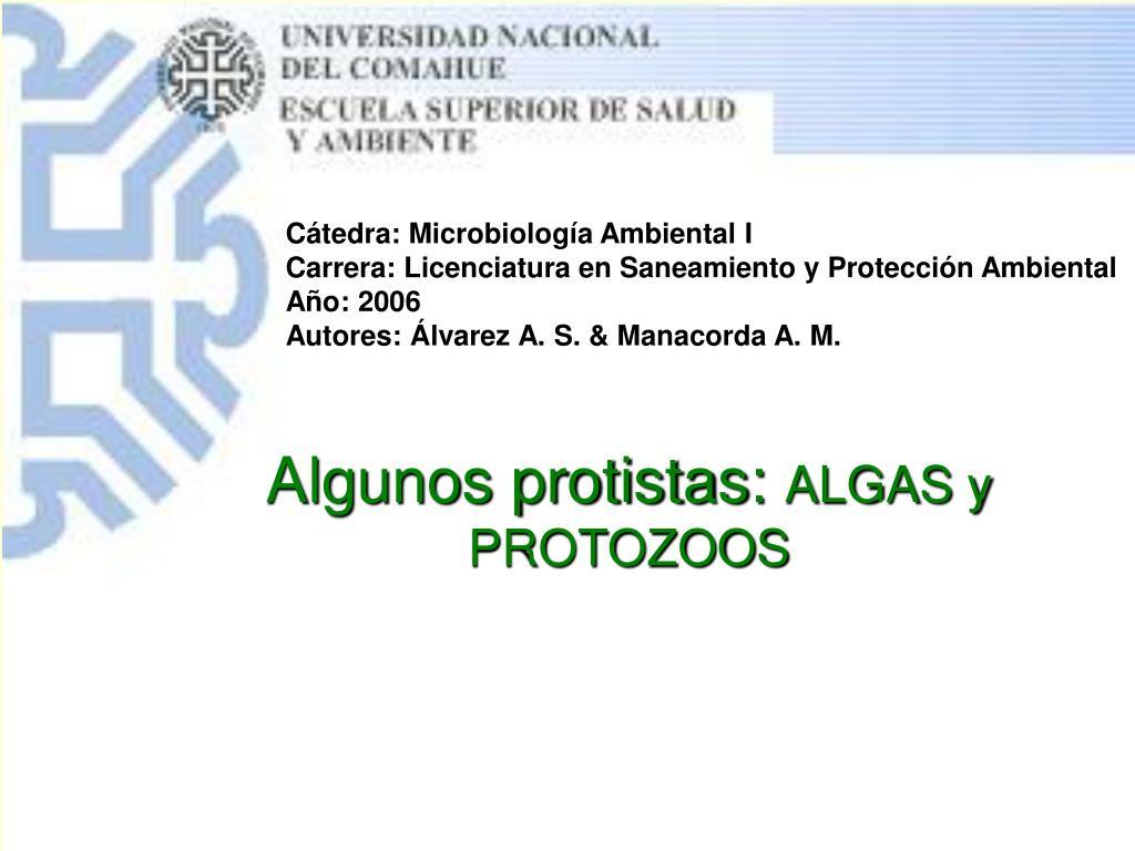 Cátedra: Microbiología Ambiental I