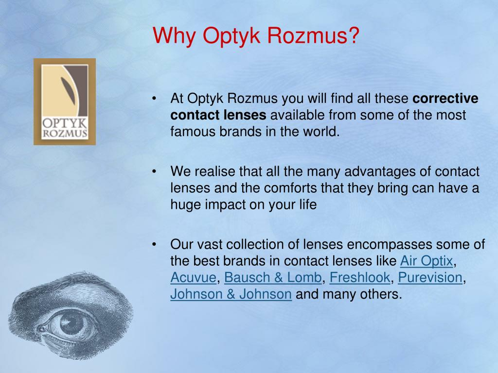 Why Optyk Rozmus?