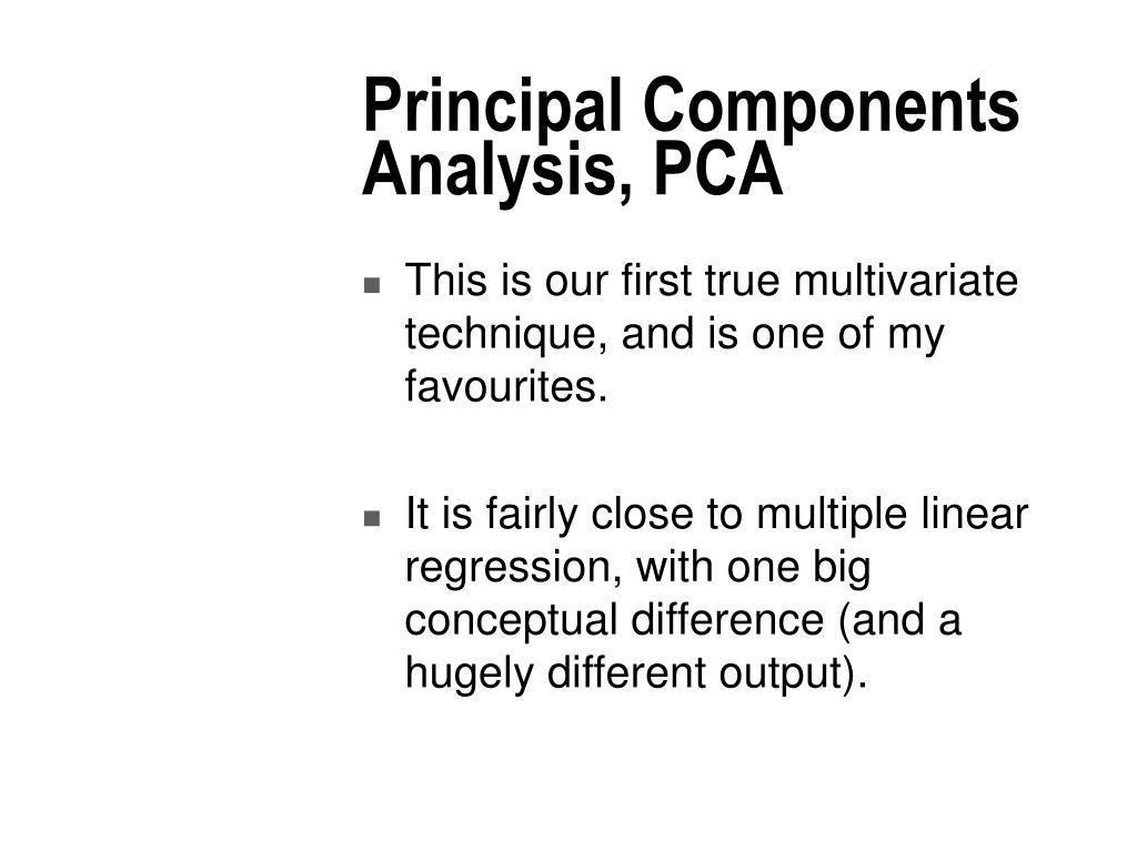 Principal Components