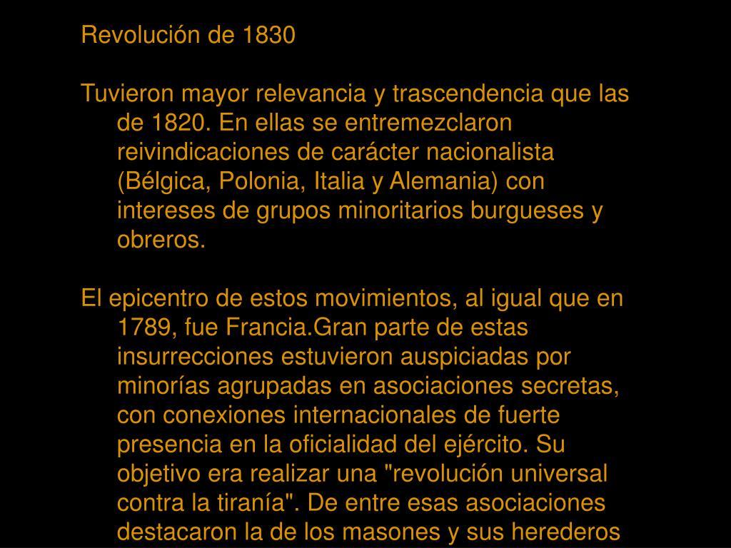 Revolución de 1830