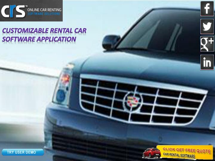 Customizable Rental Car Software Application