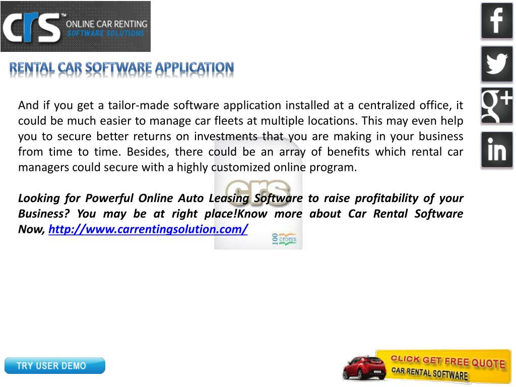 Rental Car Software Application