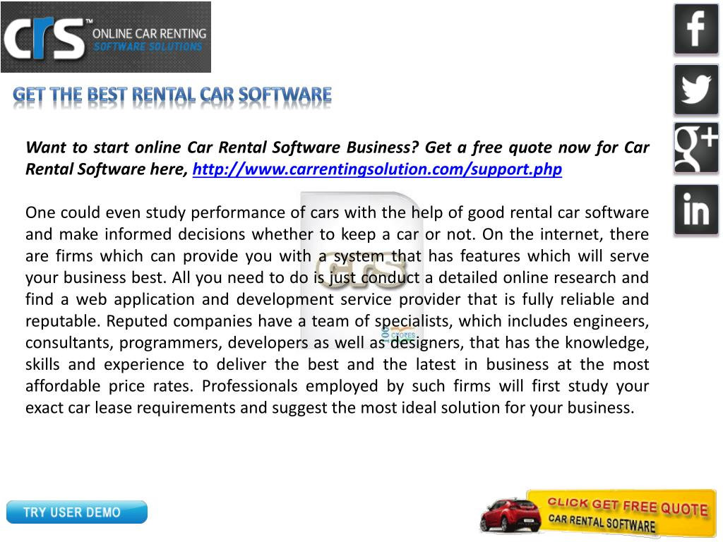 Get the best rental car software