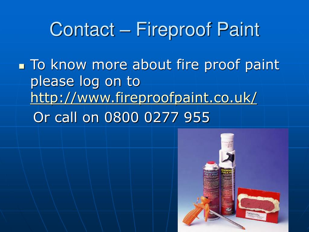 Contact – Fireproof Paint