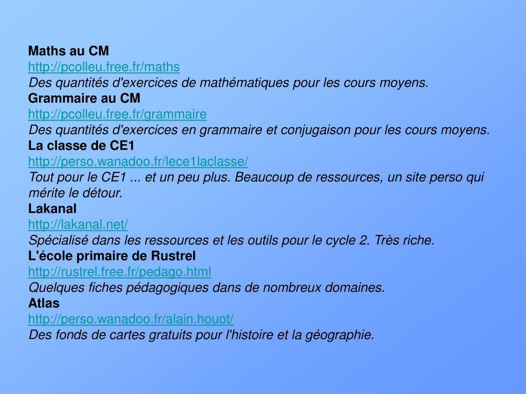 Maths au CM
