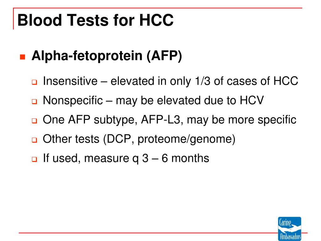 Blood Tests for HCC