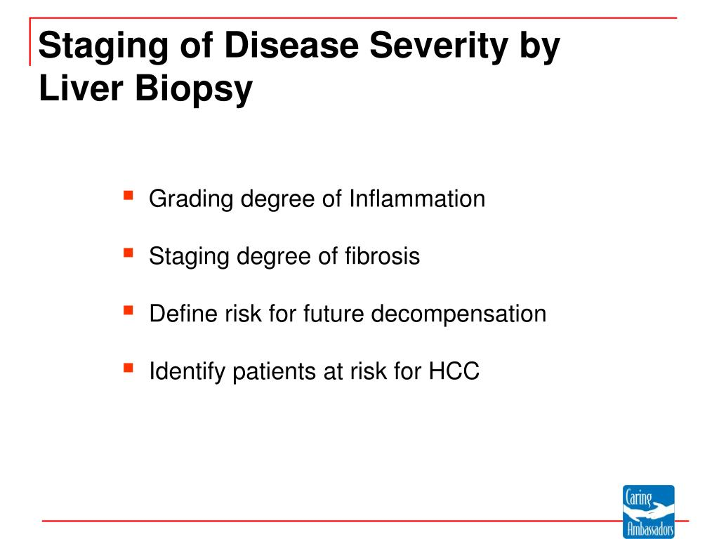 Staging of Disease Severity by