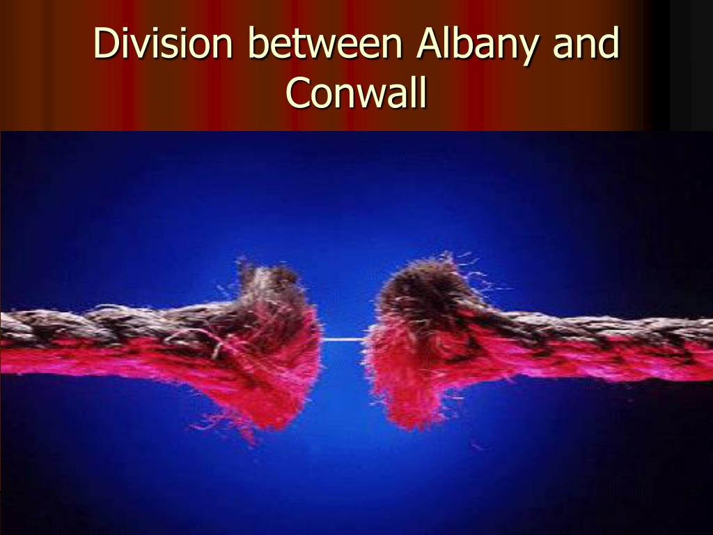 Division between Albany and