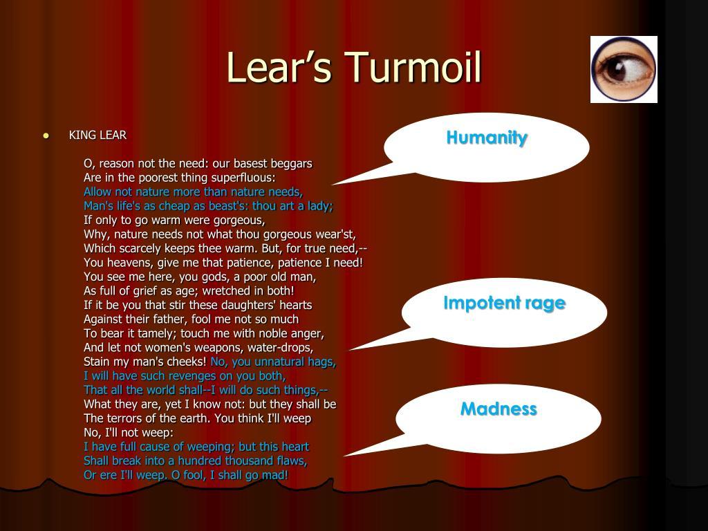 Lear's Turmoil