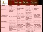 points good guys