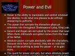 power and evil