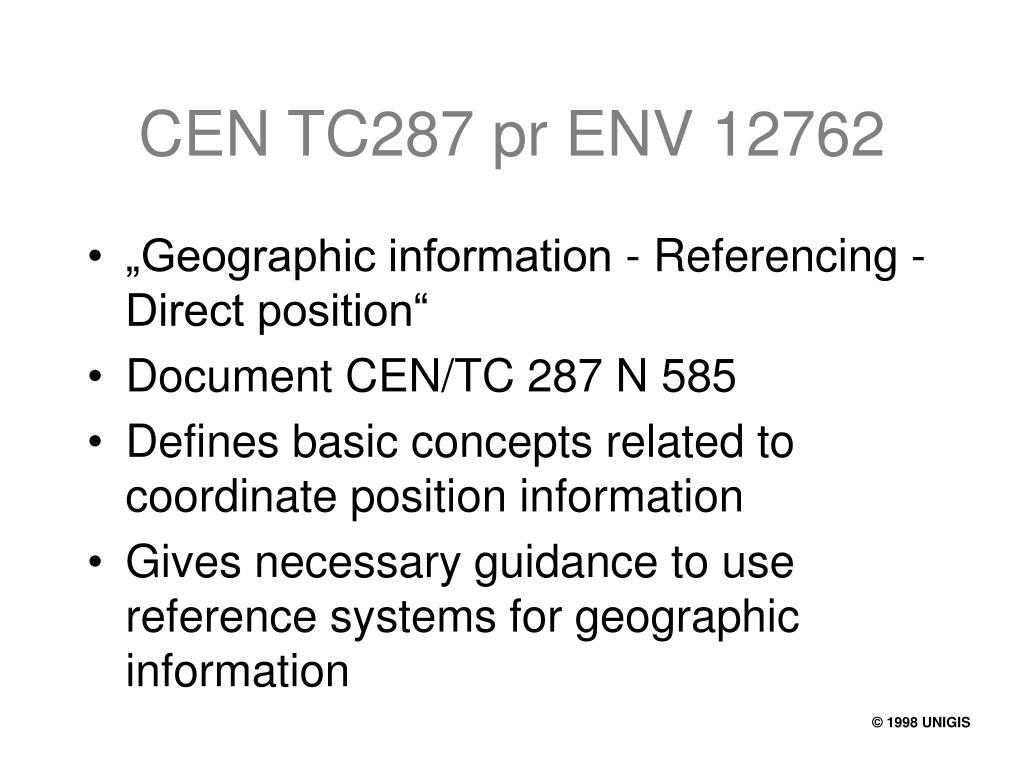 CEN TC287 pr ENV 12762