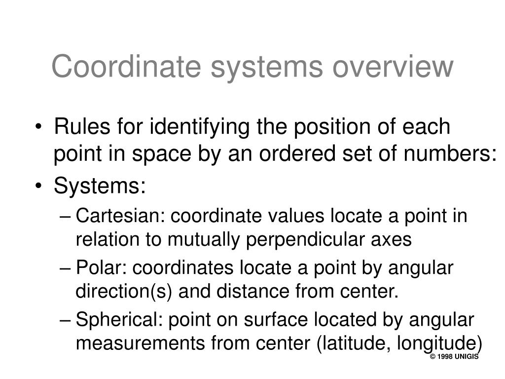 Coordinate systems overview
