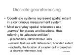 discrete georeferencing