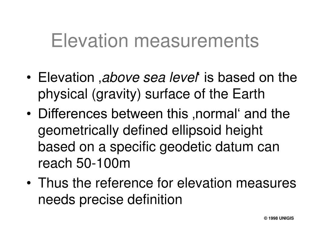 Elevation measurements