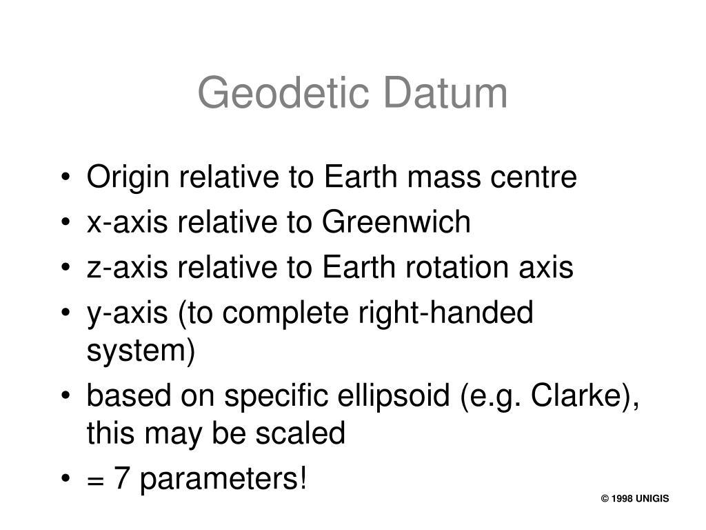 Geodetic Datum