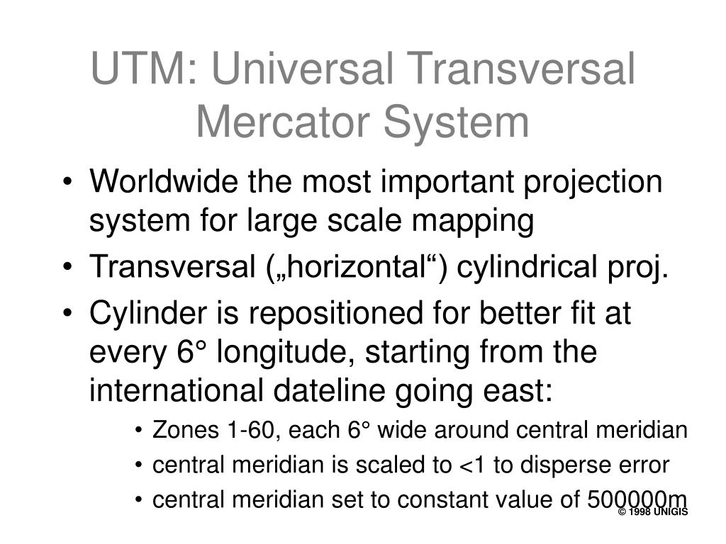 UTM: Universal Transversal Mercator System