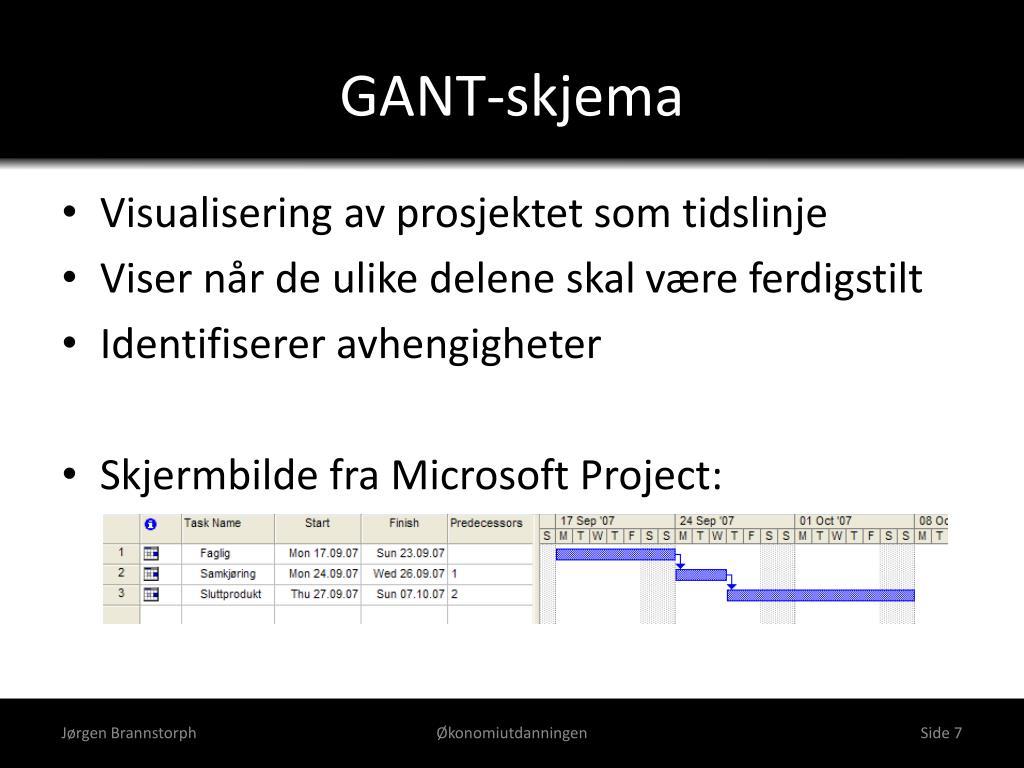 GANT-skjema
