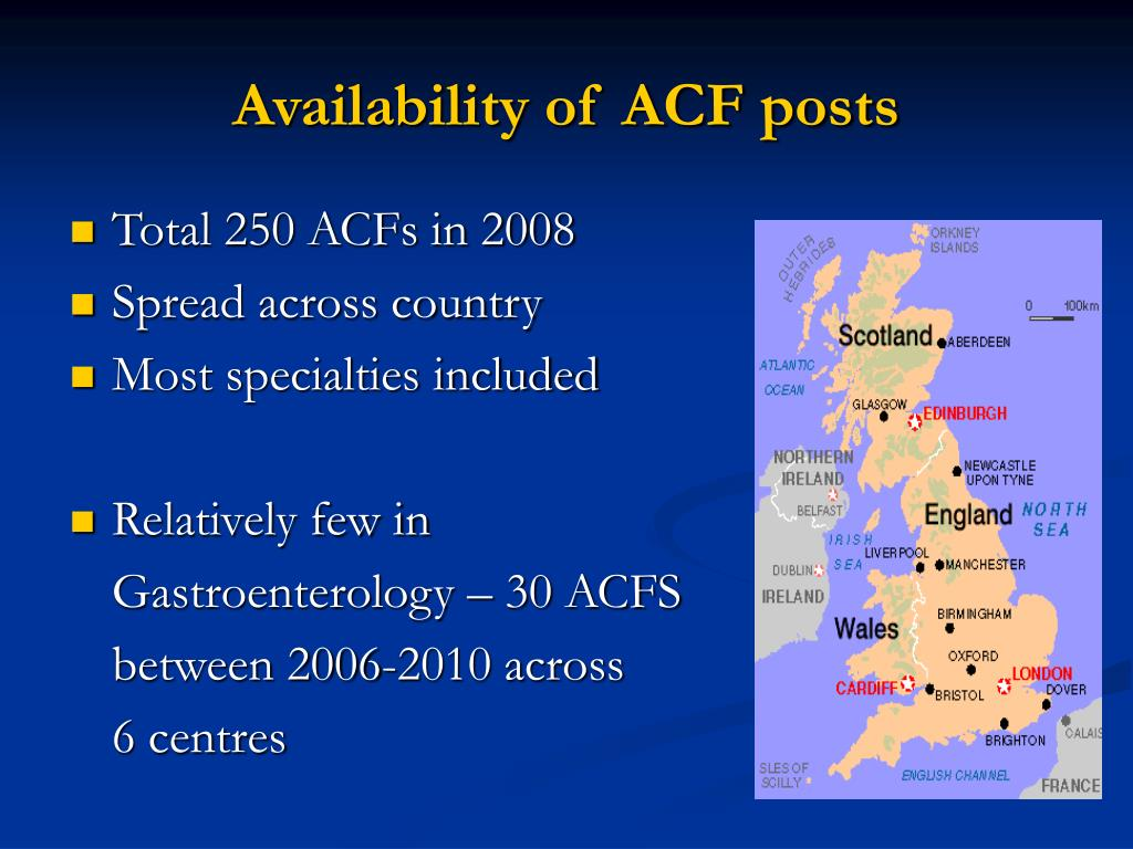 Availability of ACF posts