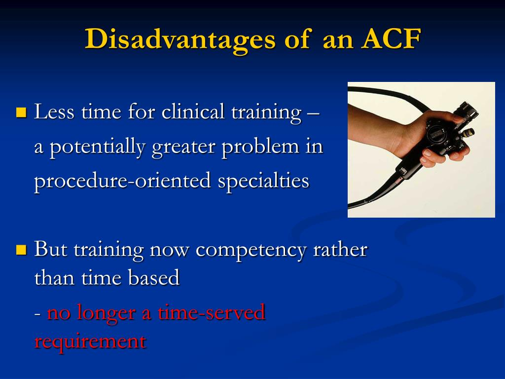 Disadvantages of an ACF