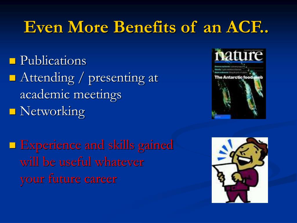 Even More Benefits of an ACF..