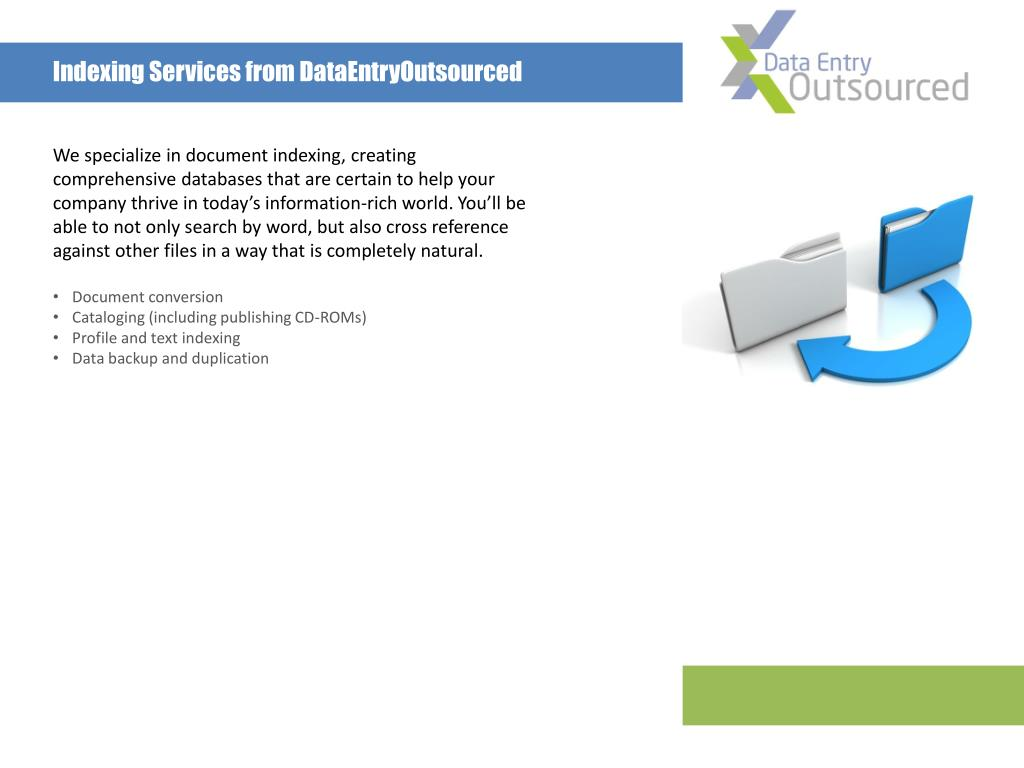 Indexing Services from