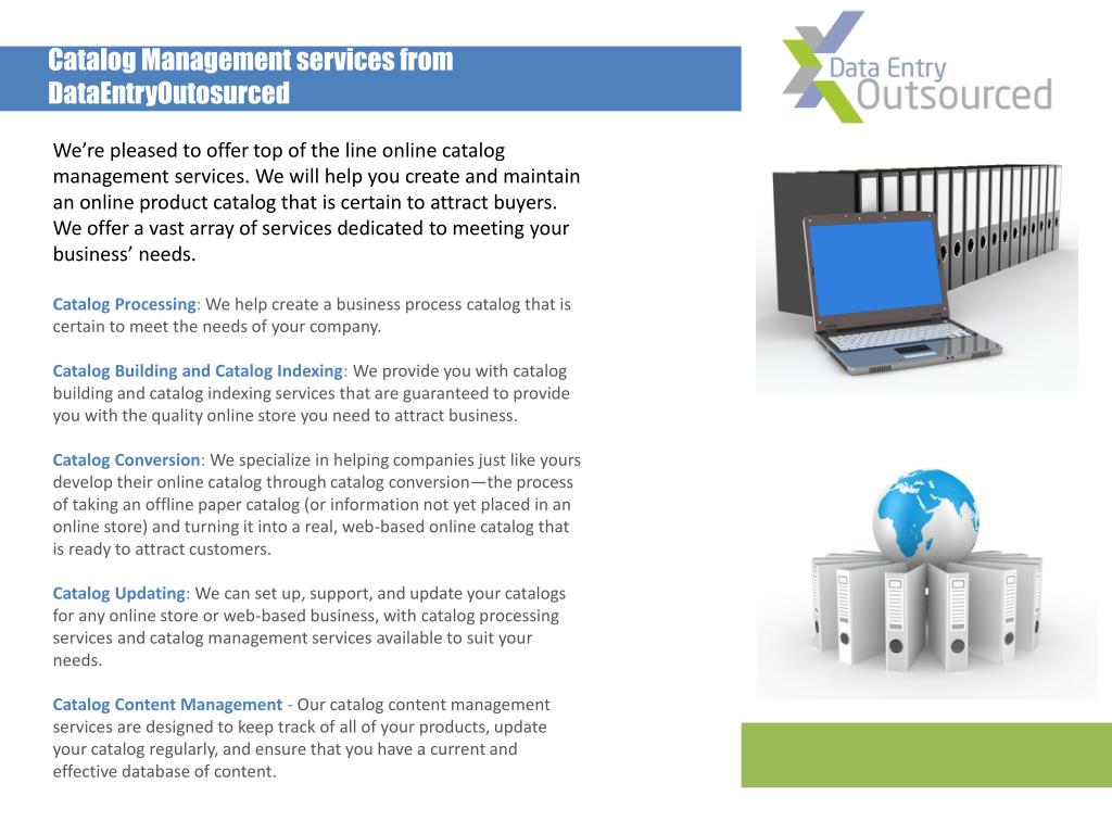 Catalog Management services from