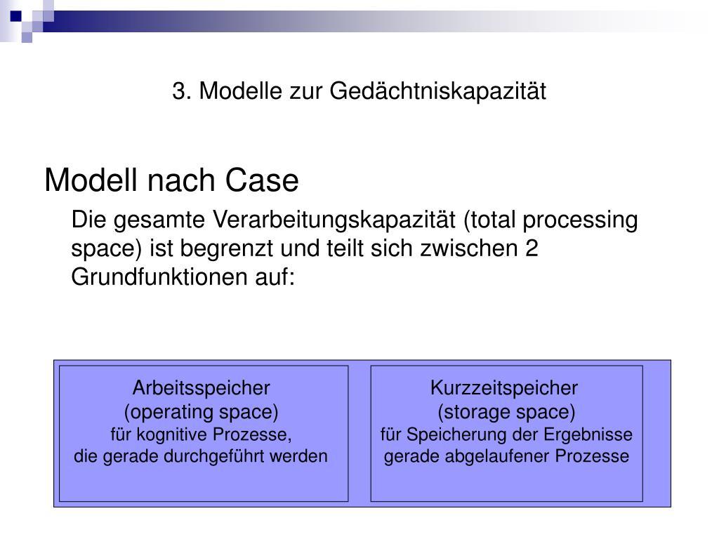 3. Modelle zur Gedächtniskapazität