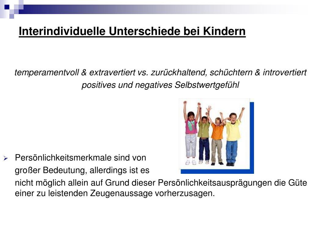 Interindividuelle Unterschiede bei Kindern